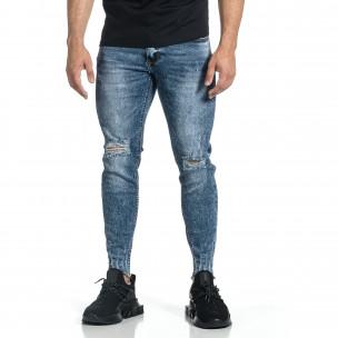 Мъжки дънки с еластични прокъсвания Capri fit