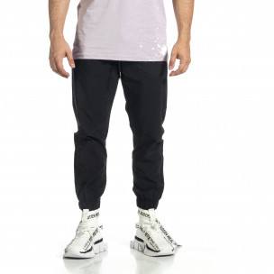 Мъжки шушляков панталон Jogger в черно  2