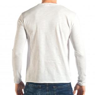 Мъжка бяла блуза изчистен модел 2