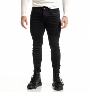 Basic мъжки черни дънки Capri fit