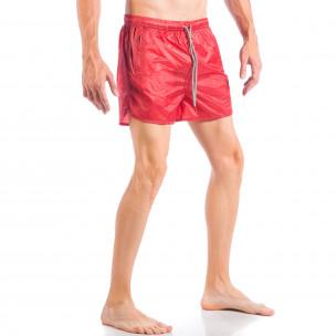 Мъжки червен бански изчистен модел  2