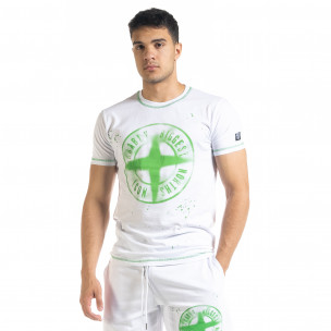 Бяла мъжки тениска Compass