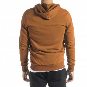 Basic мъжки суичър цвят камел  2
