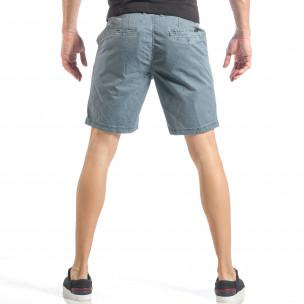 Мъжки сини къси панталони на точки  2