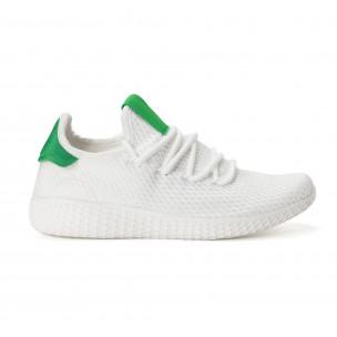 Мъжки зелено-бели леки маратонки