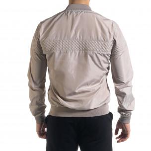 Леко мъжко яке-бомбър в сиво  2