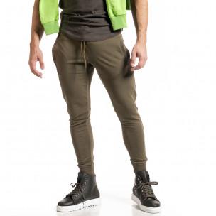 Мъжко зелено долнище от стегнато трико Breezy
