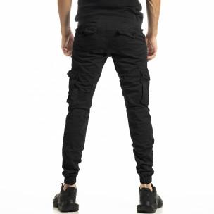 Черен мъжки панталон Cargo Jogger  2