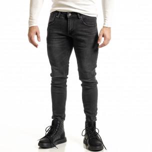 Черни дънки с леко избелял ефект Capri fit