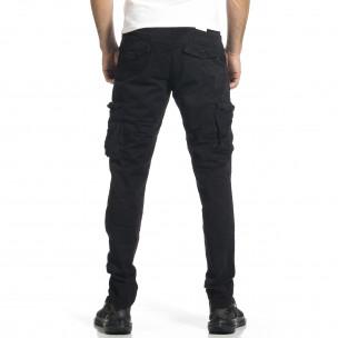 Мъжки черен панталон с прави крачоли & Big Size  2