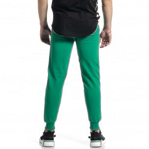 Basic памучно мъжко долнище в зелено  2