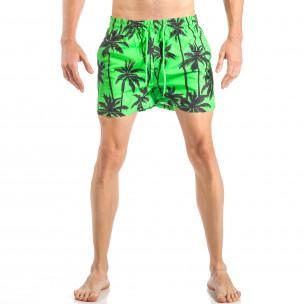 Мъжки зелен бански на палми