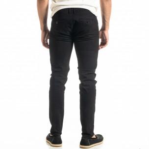 Slim fit Chino мъжки панталон в черно  2