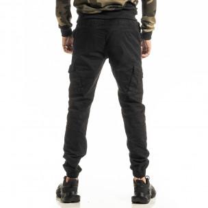 Мъжки черен Cargo Jogger панталон 2