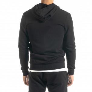 Basic мъжки суичър в черно 2