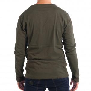 Мъжка зелена блуза RESERVED с джоб 2