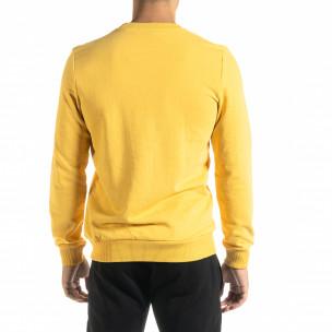 Basic мъжка памучна блуза в жълто 2