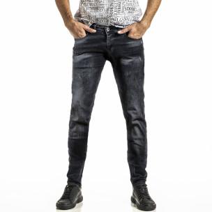 Washed Slim fit мъжки черни дънки