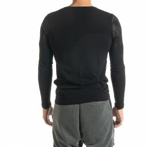 Мъжка черна блуза с надписи  2