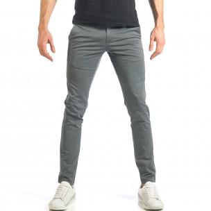 Мъжки сив панталон изчистен модел. Размер 36  2
