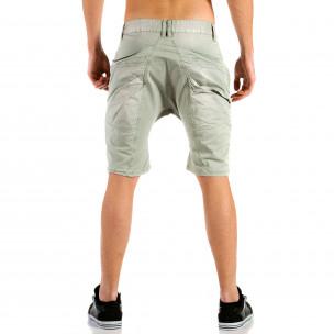 Мъжки сиви къси панталони тип потури  2
