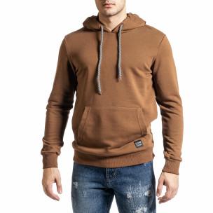 Basic мъжки суичър-анорак цвят камел