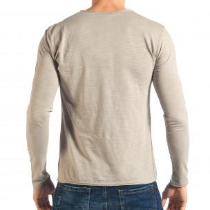 Мъжка сива блуза изчистен модел 2