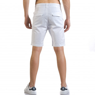Мъжки бели къси панталони с връзки  2