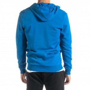 Basic мъжки суичър в синьо 2