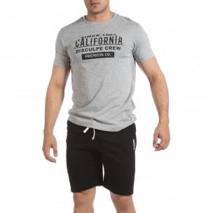 Мъжки комплект California в сиво и черно