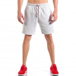 Мъжки бели шорти с апликация Британското знаме  2