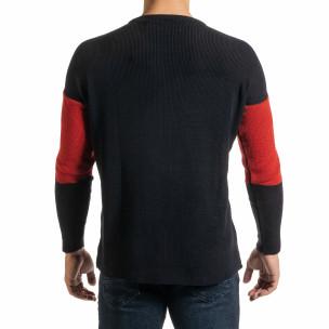 Oversize пуловер с цветни блокове  2