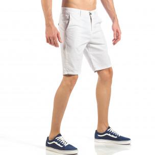 Мъжки basic къси панталони в бяло  2