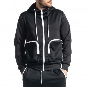 Мъжки черен спортен комплект Cagro style  2