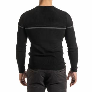 Пуловер с декоративна платка  2