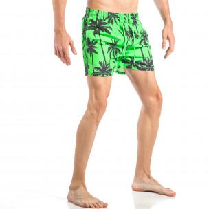 Мъжки зелен бански на палми 2