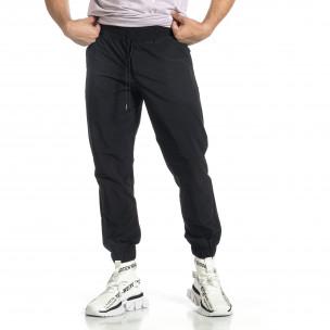 Мъжки шушляков панталон Jogger в черно