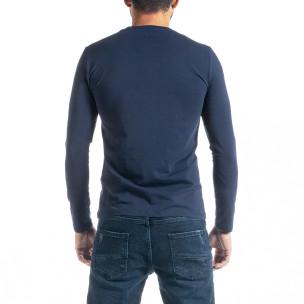 Мъжка синя блуза Jeans Sport 2