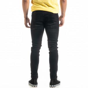 Slim fit Basic мъжки черни дънки  2