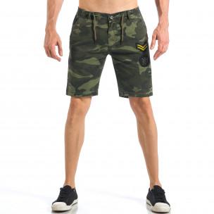 Мъжки камуфлажни къси панталони с емблеми