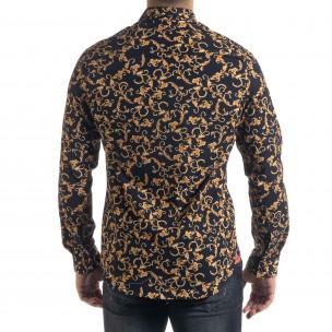 Slim fit мъжка риза флорален десен  2
