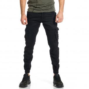 Мъжки черен карго панталон Jogger & Big Size