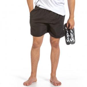 Мъжки черен бански Basic Big Size