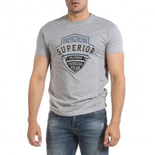 Мъжка сива тениска Superior