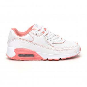 Дамски маратонки с въздушна камера бяло и розово