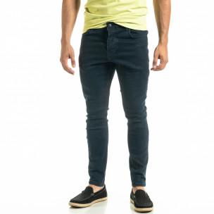 Мъжки сини дънки Basic Slim fit 2