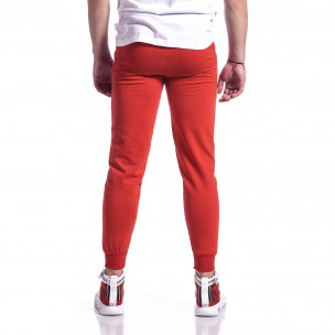 Basic памучно мъжко долнище в червено  2