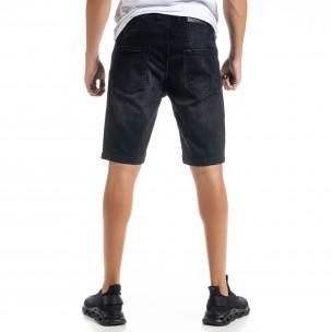 Big Size Basic мъжки черни къси дънки  2