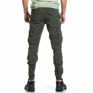 Мъжки зелен карго панталон Jogger & Big Size  2
