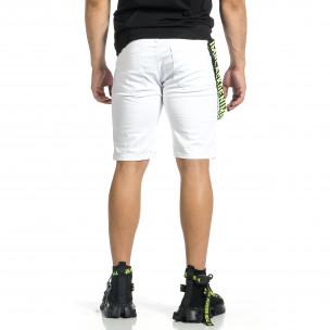 Мъжки бели бермуди с акценти Yes Design 2